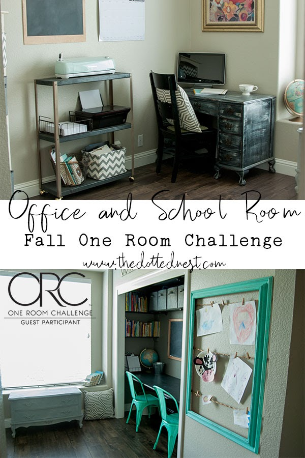 Fall One Room Challenge Office and School Room Makeover Reveal