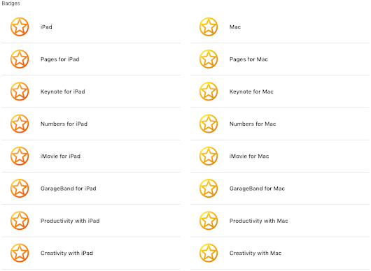 "Completed Courses for ""Apple Teacher"" Certification"