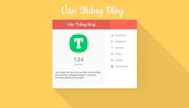 Popup Tác Giả Ẩn Hiện Đẹp Cho Blogger/Blogspot