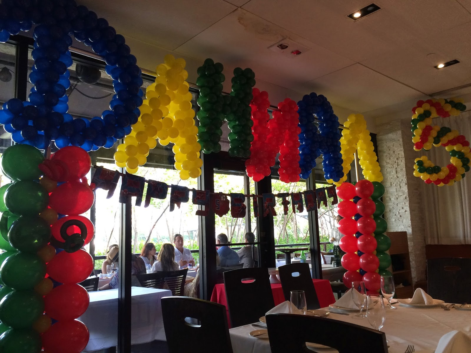 Name by balloons and balloon columns