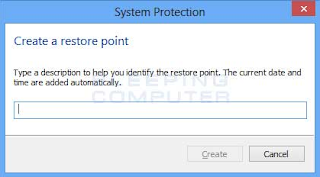 Cara Mengaktifkan dan Mematikan System Restore
