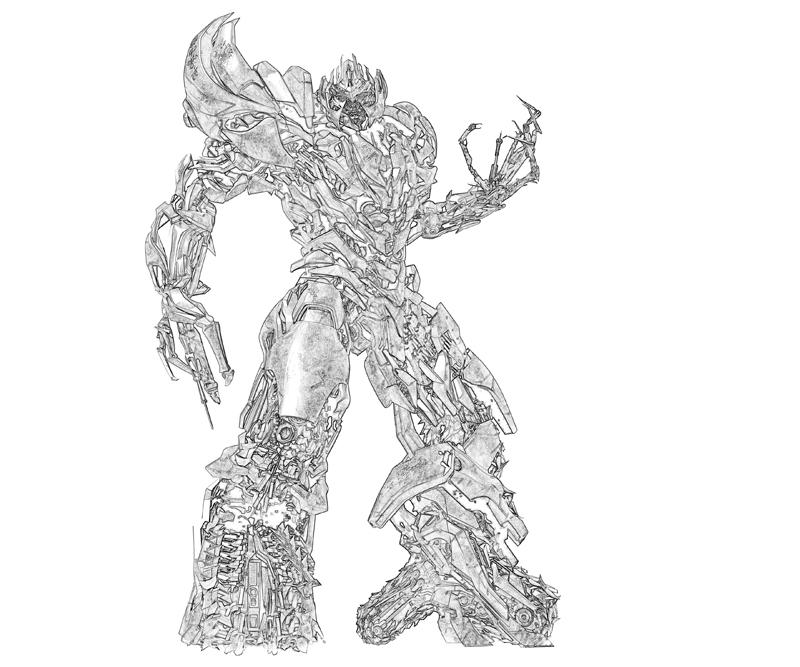 Free coloring pages of transformers megatron