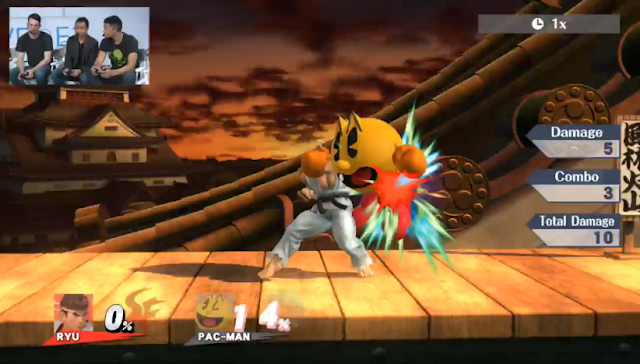 Ryu Pac-Man Super Smash Bros. For Wii U DLC