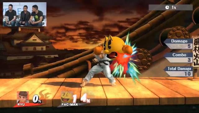 Ryu Pac-Man Super Smash Bros. For Wii U DLC