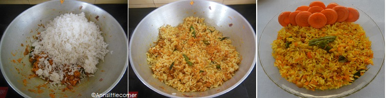 How to make Carrot Rice - Step 3
