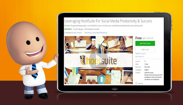 [100% Off] Leveraging HootSuite For Social Media Productivity & Success| Worth 20$