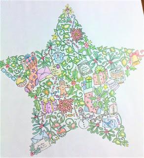 ジョハンナ・バスフォード公式ブログよりDLクリスマスの塗り絵