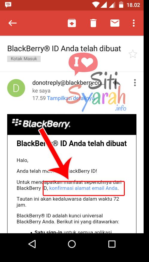 konfirmasi email bbm