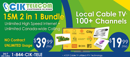 CIK Telecom Deals – Select Cable Bundle Plans at $39.99/month in British Columbia
