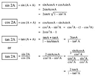 Trigonometry formula and equations