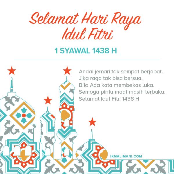 Gratis Kartu Ucapan Selamat Idul Fitri 2017 Ikmal Imani