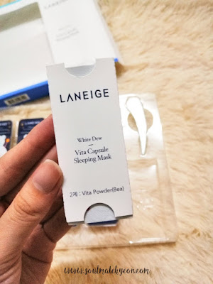 Review; Laneige's White Dew Vita Capsule Sleeping Mask