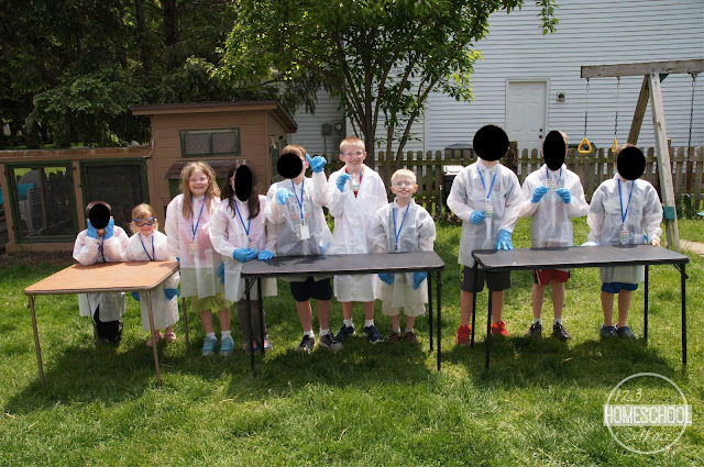 kids science birthday party games