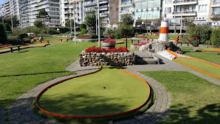 Crazy Golf course at Leopoldpark in Blankenberge