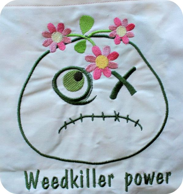 montre, tissu vintage, fabrication de sac, totebag,machine embroidery, broderie machine, zombie,fleurs, désherbant, weed killer