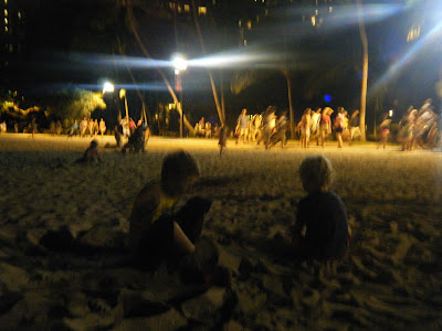 night at the beach