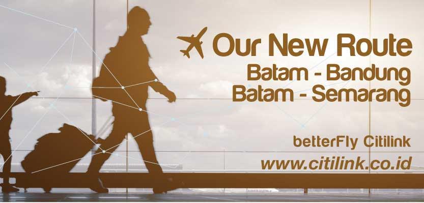 Promo Harga Tiket Pesawat Kereta Api Dan Hotel Rute Baru Citilink Batam Bandung Dan Batam Semarang