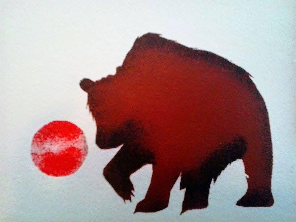 Aki-egwaniizid bear painting