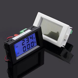 AC Digital Ammeter Voltmeter LCD Panel Amp Volt Meter 100A 300V 110V 220V TG