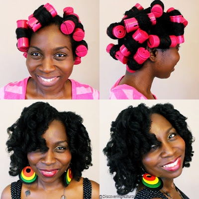 BOUNCY CURLS on NATURAL HAIR Type 4 Coily Hair with JUMBO Perm Rods