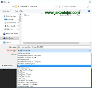 Cara Mengecilkan Ukuran File PDF menggunakan Save as Microsoft Word