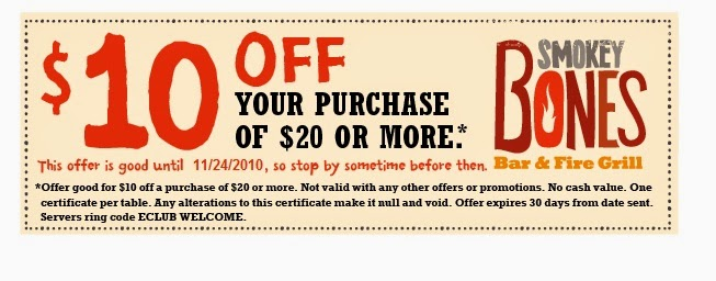 photograph relating to Smokey Bones Coupons Printable identify Smokey bones coupon code : Airline and lodge systems