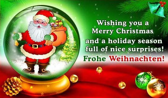 German Christmas Greetings text