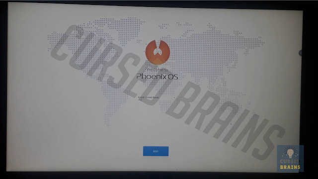 Phoenix OS - Setup screen language change option, English, Chinese