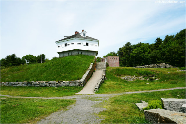 Block House en el Fort McClary State Historic Site en Kittery, Maine