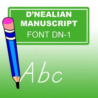 TPT - Fonts 4 Teachers: Top 6 D'Nealian Fonts to Practice