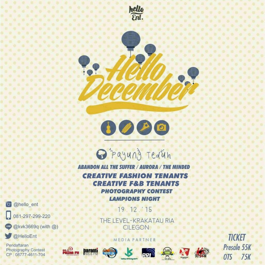 Hello December with Payung Teduh
