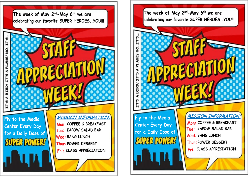 Teacher Appreciation Week Free Superhero Theme Printables ...