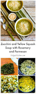 Zucchini and Yellow Squash Soup with Rosemary and Parmesan (Pressure Cooker or Stovetop) found on KalynsKitchen.com