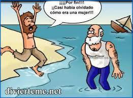 Meme de humor sobre Robinson Crusoe