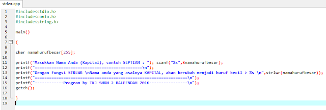 contoh program strlwr bahasa c