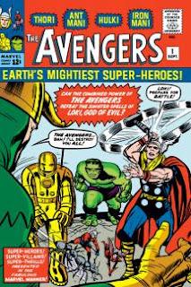 Os Vingadores, primeira capa dos quadrinhos