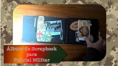 Album de Scrapbook para policiais e militares