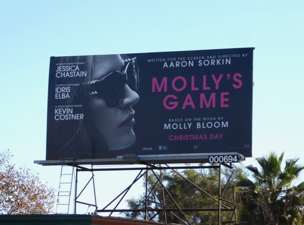 Mollys Game movie billboard