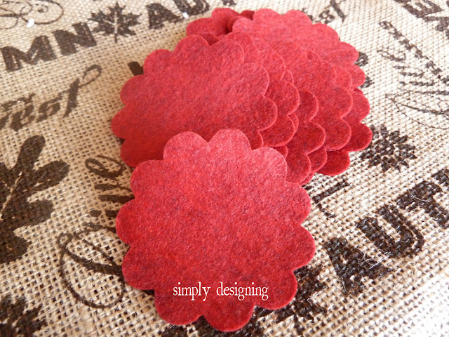 Felt Flowers cut with Sizzix @SimplyDesigning