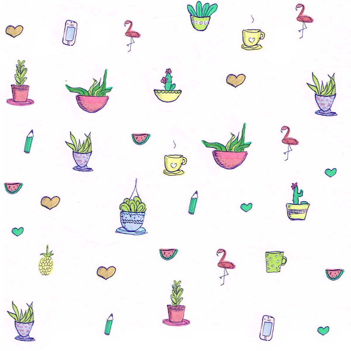 Free Digital Cactus Scrapbooking Paper