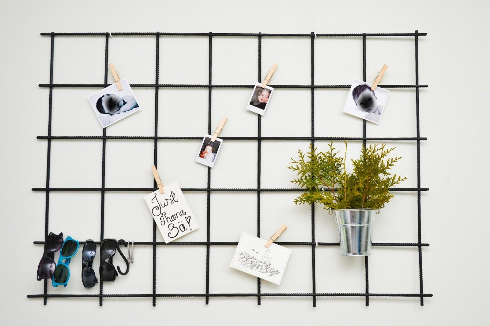Saippuakuplia olohuoneessa- blogi, kuva Hanna Poikkilehto, adores us babies bunny poster, Granit, Artek, Alvar Aalto, Paimion parantola tuoli, Ikea, metallinen ritilä muistitaulu, diy, raudoitusverkko, työhuone, koti, sisustus, blogisisaret