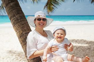 plage avec bébé niveau intermédiaire