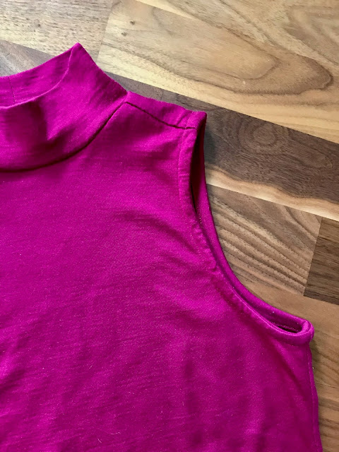 Diary of a Chain Stitcher: True Bias Nikko Top in Fuschia Merino Jersey from The Fabric Store
