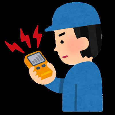 計測器を持つ人のイラスト