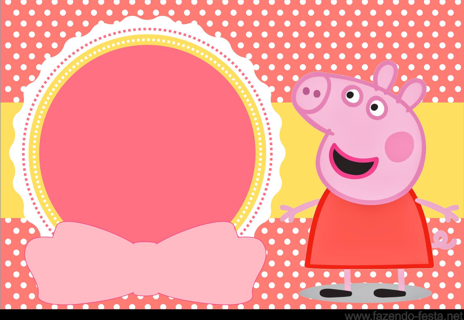 Convites Gratuitos Da Peppa Pig Dicas Pra Mamae