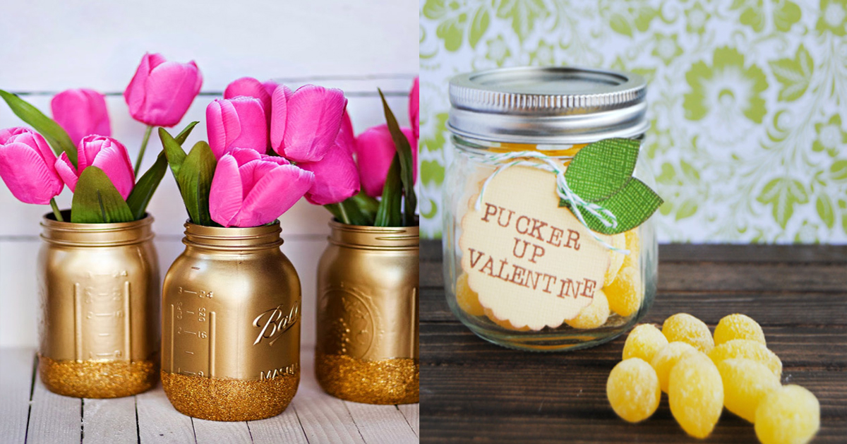 15 Best Diy Mason Jar Valentine Crafts Craftsonfire