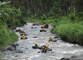 Tubing in Sungai Batang Tangkahan In North Sumatra