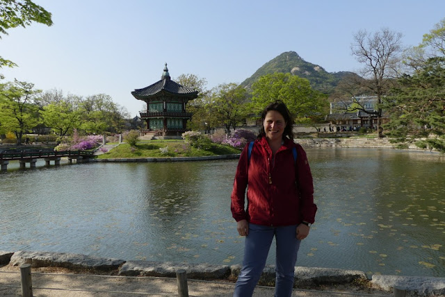 Ich im nördlichen Teil des Gyeongbokgung, Seoul