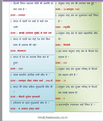 सामान्य ज्ञान प्रश्न उत्तर सहित पीडीऍफ़ बुक हिंदी में | Samanya Gyan PDF Book In Hindi