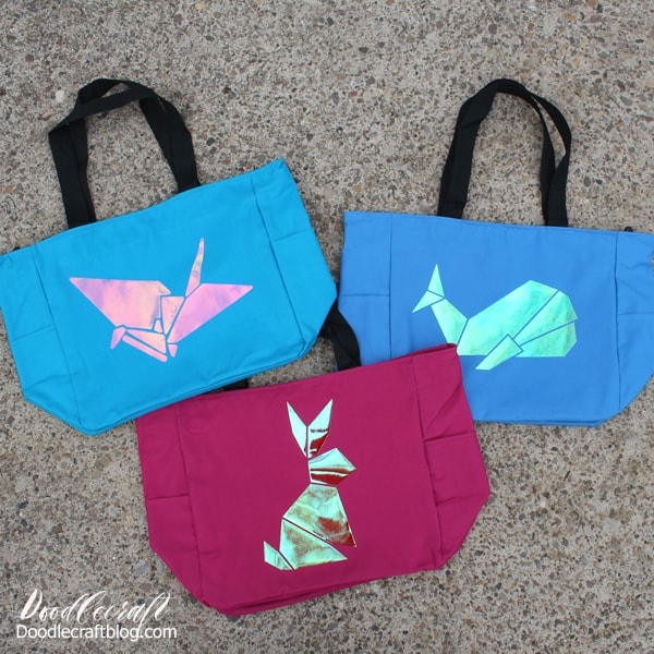 Make tote bags instead of Easter baskets, perfect to use year round instead of just seasonally.